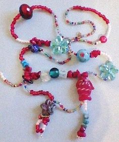 Turquoise-Stone-Glass-Ceramic-Crystal-Millefori-charm-pendants-Beaded-Necklace