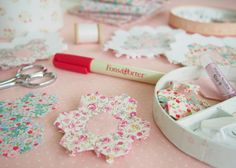 love pretty by hand and love her colors...  .English Paper Piecing hexagon tutorial @ Pretty by Hand