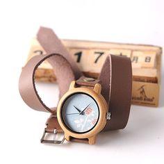 BOBO BIRD M22 Handmade Women Unique Wood Watch Fashion Brand For Ladies Watch With Quartz Movement Montres femmes With Gift Box