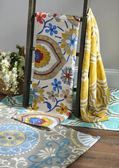 With unique designs and bright colors, Kirkland's Chatham Scatter Rugs are the perfect way to add noticeable style to a room!
