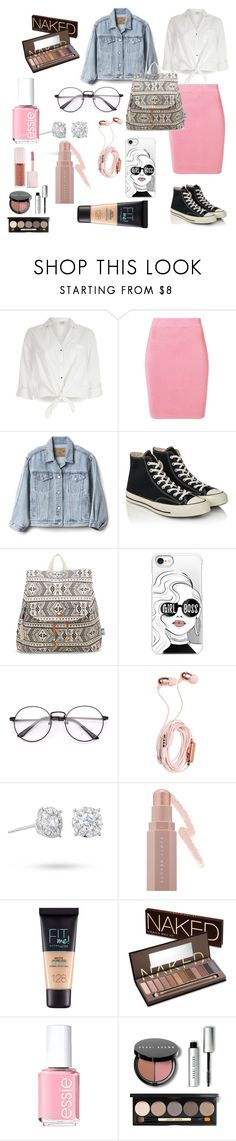 """Library Chic"" by mdiab438 ❤ liked on Polyvore featuring River Island, T By Alexander Wang, Gap, Converse, TOMS, Casetify, Masquerade, Puma, Maybelline and Urban Decay"