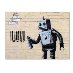 Banksy 'Robot' Canvas Art