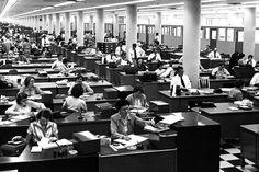 Capitalism's secret love affair with bureaucracy Retro Office, Vintage Office, Employee Wellness, Mystery, Evolutionary Biology, Tv Tropes, Us Swimming, Office Setup, Secret Love