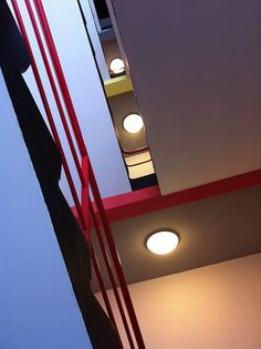 Stairwell of the student dormitory building, Bauhaus Dessau.