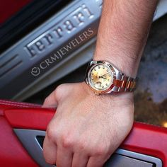 Two-tone Datejust II Time to ride