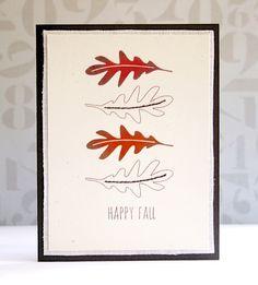 Happy Leaves Card by @mprantner using the Autumn Acorns set. #EssentialsbyEllen #ellenhutsonllc #AutumnAcorns