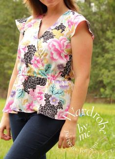 Free sewing patterns for women's tops to sew this summer.