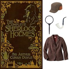 Sherlock Holmes Series: Sherlock Holmes Get the look of detective Sherlock Holmes with a structured tweed coat, a coordinating hat, and the key accessories: a magnifying glass and fake pipe.