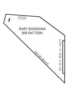 FREE Bandana Bib PDF Pattern Template by What Dan Did Next