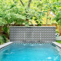 Pool Waterline Tile - Clay Imports Swimming Pool Tiles, Swimming Pool Designs, Small Backyard Pools, Backyard Landscaping, Spanish Revival Home, Southwestern Home Decor, Pool Remodel, Pool Chemicals, Pool Houses