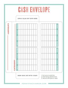 Learn how to use the cash envelope system and find a printable cash envelope template to help you get started using this budget method. Budgeting System, Budgeting Finances, Budgeting Tips, Budgeting Worksheets, Envelope Budget System, Cash Envelope System, Dave Ramsey Envelope System, Budget Envelopes, Money Envelopes