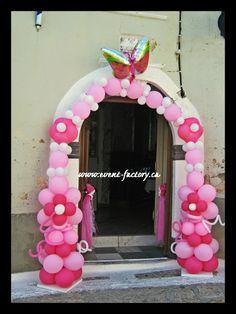 balloon decoration pink arch