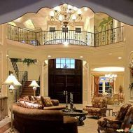 This Mediterranean home plan with Luxury influences (House Plan has sq. of living space. The 2 story floor plan includes 5 bedrooms. Family House Plans, House Floor Plans, Florida House Plans, House Plans With Pictures, Mediterranean House Plans, Model House Plan, Coastal Living Rooms, Luxury House Plans, Interiores Design