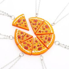 7 Slices Pizza Necklace