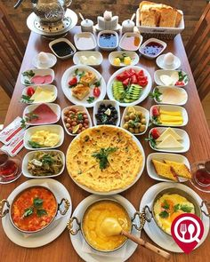 Afghanistan Food, Turkish Recipes, Ethnic Recipes, Brunch Cafe, Turkish Breakfast, Istanbul, Deli Food, Food Decoration, Food Platters