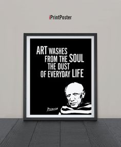 Picasso inspirational print Art print by iPrintPoster on Etsy
