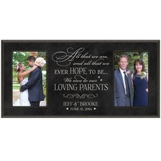 Parent wedding gift Parent thank you Gift by DaySpringMilestones