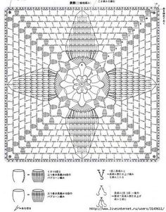Psychedelic Crochet Blanket pattern