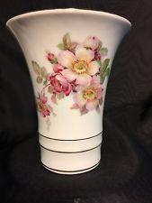 bavarian rose painted vase - $5.00