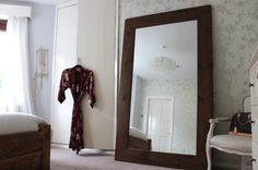 Moss Floor Standing Reclaimed Wood Mirror - Modish Living