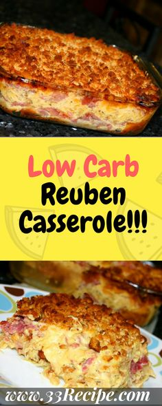 Low Carb Reuben Casserole One of food - Waffeln rezept Keto Foods, Ketogenic Recipes, Low Carb Recipes, Cooking Recipes, Pork Recipes, Low Carb Food, Low Carb Meals, Healthy Foods, Chicken Recipes