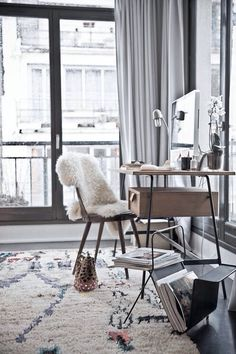 Sweet little home office space! #Office #Home #Interiors