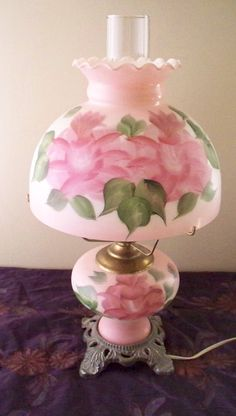 Mid Century Lighting GWTW Hurricane Lamp Pink by vintagesouthwest, $85.00