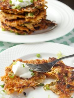crispy, salty, spicy Kimchi Potato Pancakes!