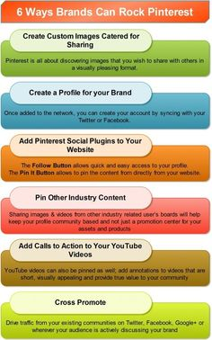 6 Ways Brands Can Rock Pinterest (Infographic) | Social Media Consultant
