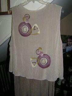 back of acetate vest