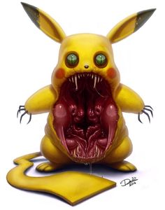 Art Of Anthony Jones Nightmare Fuel For Your Guests Nightmare - This artist transformed pokmon characters into nightmare fuel