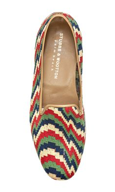 BARGELLO - Classic Slippers by Stubbs & Wootton - SPRING 2013. www.stubbsandwootton.com