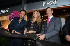 Bar Refaeli at the Piaget store opening in Switzerland.