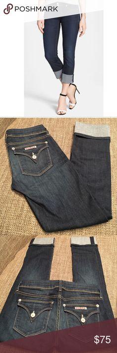 "Hudson Ginny crop denim Hudson Ginny crop straight with cuff. Like new. Inseam 26"". Cuff 3.5"". Rise 7"" Hudson Jeans Jeans Straight Leg"