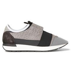 BALENCIAGA Leather, Neoprene And Mesh Sneakers. #balenciaga #shoes #sneakers