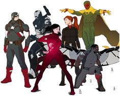 The New Avengers Assembled, by Dima Ivanov (montage by me)