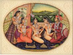 Presenting a strikingly beautiful and picturesque handmade Mughal Miniature Painting detailing an erotic harem scene. You'll love this superb artwork which captures the Mughal emperor enjoying a romantic interlude in the open terrace harem court. Mughal Miniature Paintings, Mughal Paintings, Indian Art Paintings, Sexy Painting, Woman Painting, Mughal Architecture, Mughal Empire, India Art, Historical Images