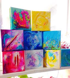 Zodiac Mini Abstract Paintings Zodiac Mini Art Astrology