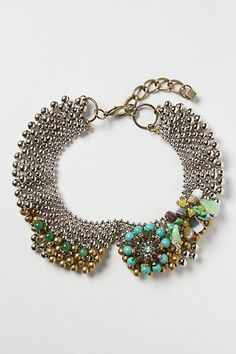 Pearled Mercury Collar #anthropologie: LOVE this collar necklace worn with a simple crewneck sweater