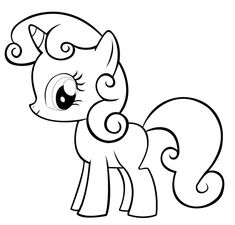 My Little Pony Happy Pinkie Pie Coloring Pages Coloring Happy