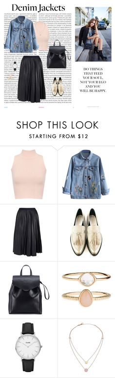"""Denim jacket"" by dorey on Polyvore featuring Oris, WearAll, Theory, Loeffler Randall, Accessorize, CLUSE and Michael Kors"