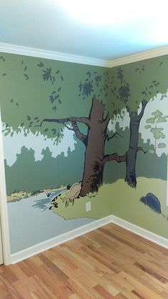 I tried my hand at a Calvin and Hobbes themed nursery1. - Imgur