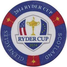 2014 Ryder Cup Poker Style Golf Ball Marker Gleneagles Scotland 2 Sided