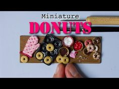 Miniature Donuts, Donut Pan and Oven Mitten // Polymer Clay Miniature Food - YouTube