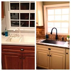 Check out Facebook Fan Joy's before and after - the beautiful after #renovation features our Wheaton faucet. #kitchen #faucet