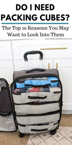 If you take even one trip a year, packing cubes will be your best friend! Here's how to use packing cubes and why our frequent flyer family swears by them!#travelhack #familytravel #traveltip #packingcubes
