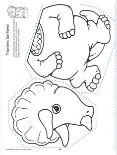 1000 images about dinosaurs on pinterest dinosaur for Paper plate puppets templates