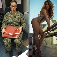 Working girls have two sides of their life one in uniform and other out of uniform. Check beautiful girls in and out of uniform that will make your day. Idf Women, Military Women, Military Girl, Female Soldier, Girls Uniforms, Sporty Girls, Badass Women, Bikini Girls, Gorgeous Women