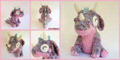 Cute Little Crochet Orbit Dragon – Free Pattern Crochet Giraffe Pattern, Crochet Shark, Crochet Crocodile Stitch, Crochet Unicorn, Cute Crochet, Beautiful Crochet, Crochet Toys, Crochet Baby, Crochet Patterns
