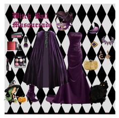 """""""Witch Ball Masquerade"""" by wendy-collins-1 ❤ liked on Polyvore featuring Diego Percossi Papi, Haider Ackermann, Masquerade, From St Xavier, Marc Jacobs, Oribe, Chanel and Bobbi Brown Cosmetics"""